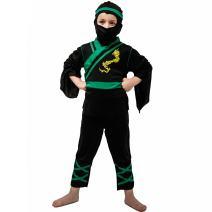Kids Ninja Dragon Kung Fu Costumes Child Ninja Warrior Outfit Cosplay