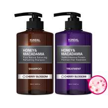 KUNDAL HONEY & MACADAMIA Hydro-Intensive Protein Premium Nature Shampoo & Treatment Set (Cherry Blossom)