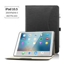 KVAGO iPad Air 3rd Generation 10.5'' 2019 Case, Slim&Lightweight Auto Sleep Wake Smart Case Cover with Pencil Holder for 2019 New iPad Air 3/2017 iPad Pro 10.5 inch -Black