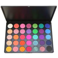 Eyeshadow Palette SEPROFE 35 Shades Bright Colors Matte Shimmer Eyeshadow Makeup Pallete Pigmented Vibrant Color Makeup Eye Shadow Cosmetic Kits