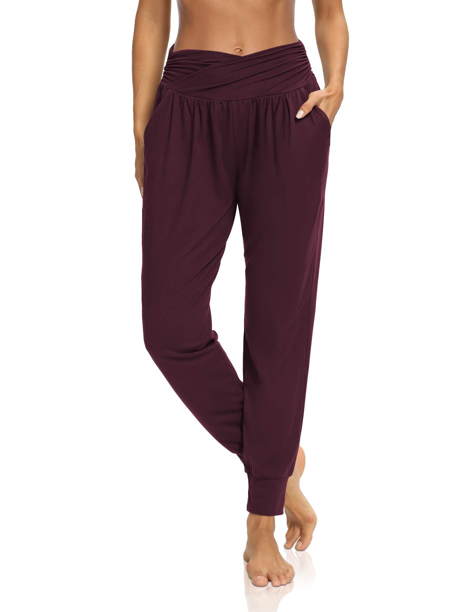 DIBAOLONG Womens Yoga Sweatpants Loose Workout Harem Joggers Casual Comfy Lounge Pajama Pants with Pockets