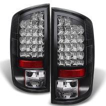 For Dodge Ram 1500/2500/3500 Pickup Truck Black Bezel LED Tail Lights Driver/Passenger Lamps
