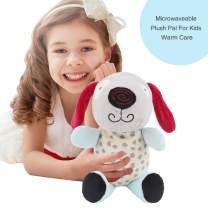 Hilph Microwaveable Plush Pal, Warm Pals Heated Plush Animal Toy with Eco-Friendly Micro-Beads Stuffed Hot Pad for Children's Soothing Warmth & Comfort - Male Dog