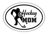 WickedGoodz Oval Hockey Mom Decal - Ice Hockey Bumper Sticker - Perfect Ice Hockey Mom Gift