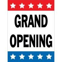 HALF PRICE BANNERS   Grand Opening Vinyl Banner -Indoor/Outdoor 4X3 Foot -Stars   Includes Zip Ties   Easy Hang Sign-Made in USA