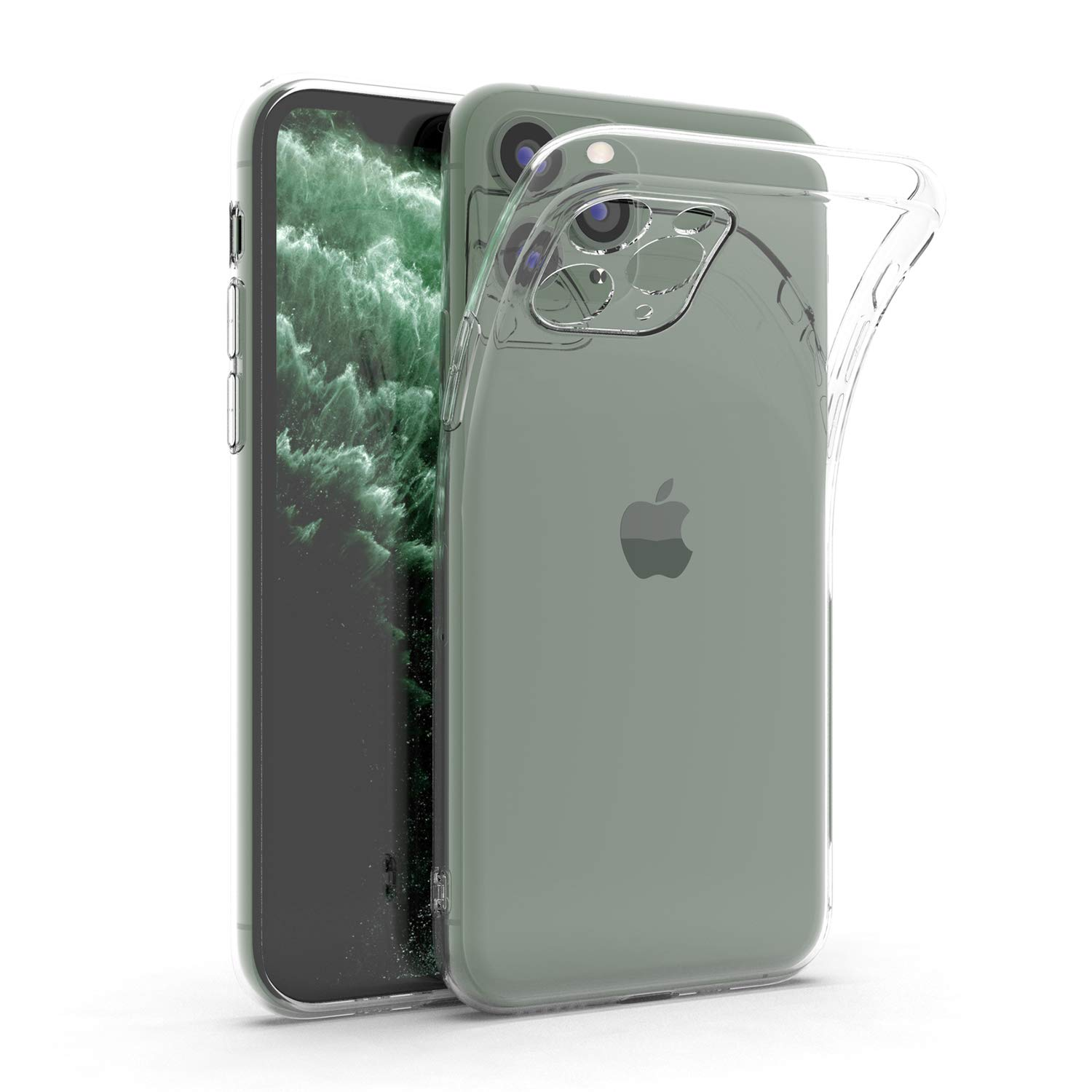 ANHONG Clear iPhone 11 Pro Case, [Enhanced Camera Protection] Slim Fit Ultra-Thin Soft Silicone TPU Gel Phone Cover Case for iPhone 11 Pro 5.8 inch (2019)
