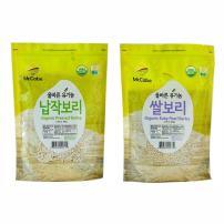 McCabe Organic Grain, 3-Pound (2-Pack) (Pressed Barley and Baby Pearled Barley)
