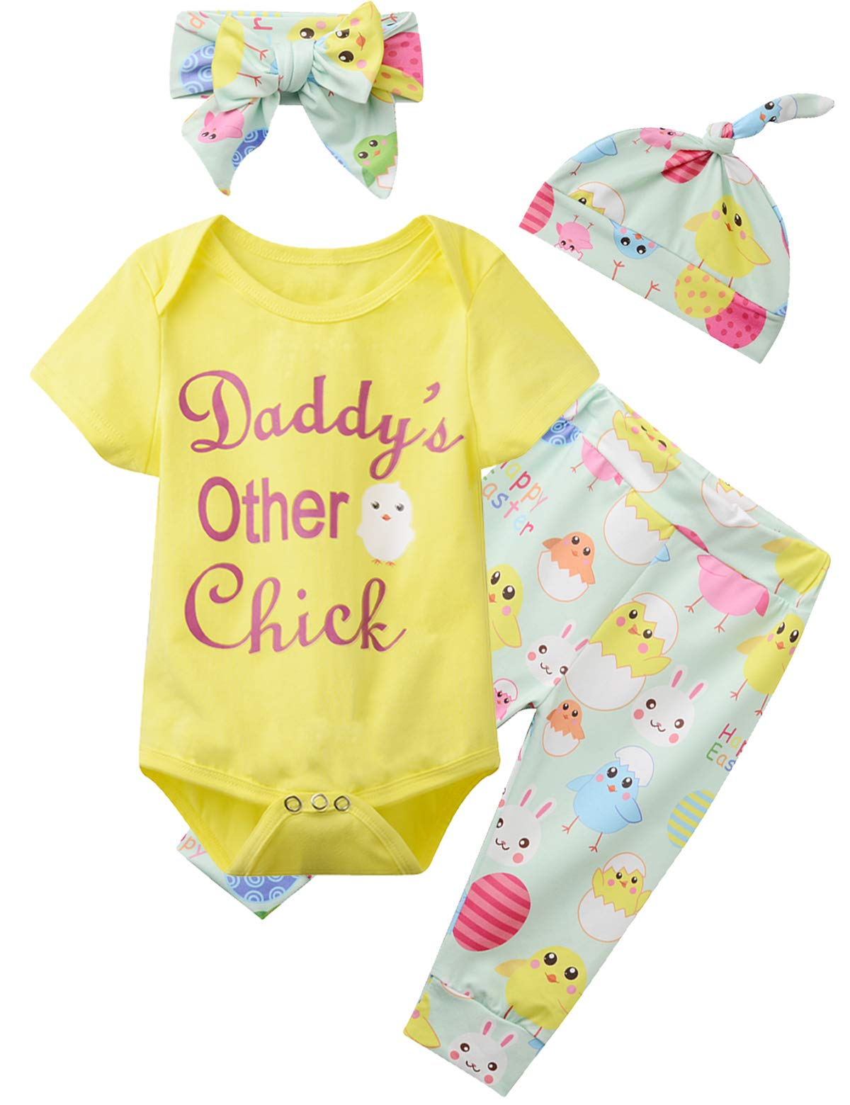 Baby Girls Easter Day Outfit Set Daddy's Other Chicks Romper