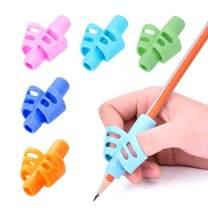 Pencil Grips-Children Pen Writing Aid Grip Set Posture Correction Tool for Kids Preschoolers Children Hollow Ventilation 5 Pac by FENGWANGLI