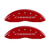 MGP Caliper Covers 12181SCHBRD Caliper Cover with Red Powder Coat Finish, (Set of 4)