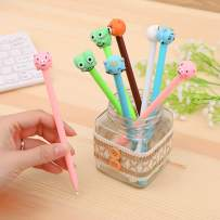 WIN-MARKET Animal Style Expression Gel Ink Pen Cute Kawaii Black Writing Pens Ballpoint Black Ink Gel Pen Party Gift Gel Ink Pens Funny School Stationery Office Supplies(8PCS)