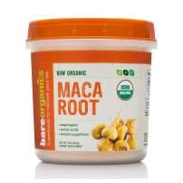BareOrganics Maca Root Powder | Organic, Vegan, Non-GMO, Gluten-Free | Energy & Stamina Support, 8oz