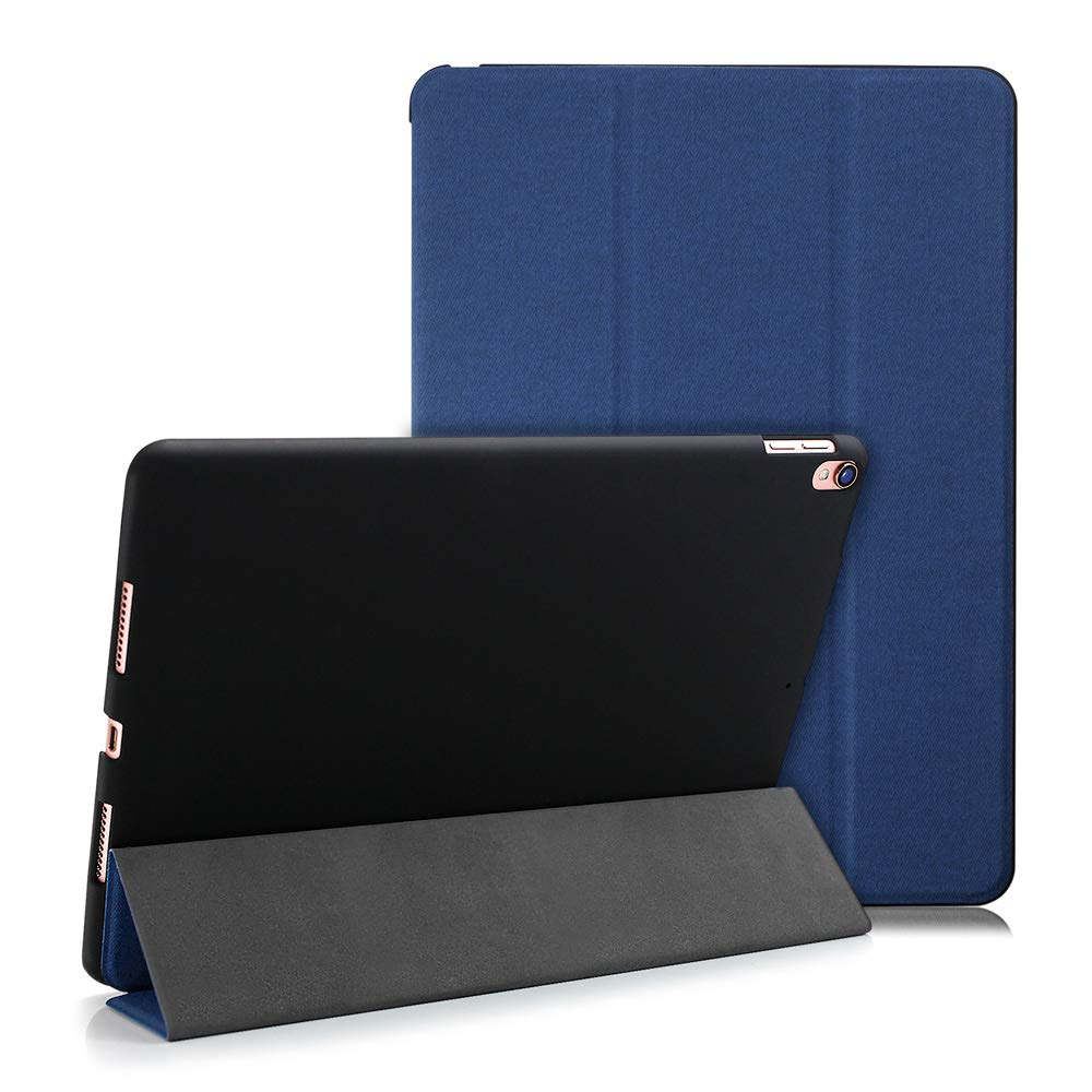 """Maxace iPad Air 3 / iPad Pro 10.5 Case, Slim Trifold Stand Folio Protective Cover Case Lightweight Smart Case for iPad Air 3rd Gen 10.5"""" - Blue"""