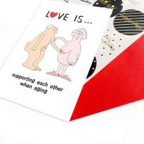 Fathers Day Gifts for Dad from Wife,Valentine's Day Gift Card for Boyfriend Husband,Funny Anniversary Card for Wife Girlfriend,Funny Rude Birthday Greeting Card for Couple Him Men Her Women