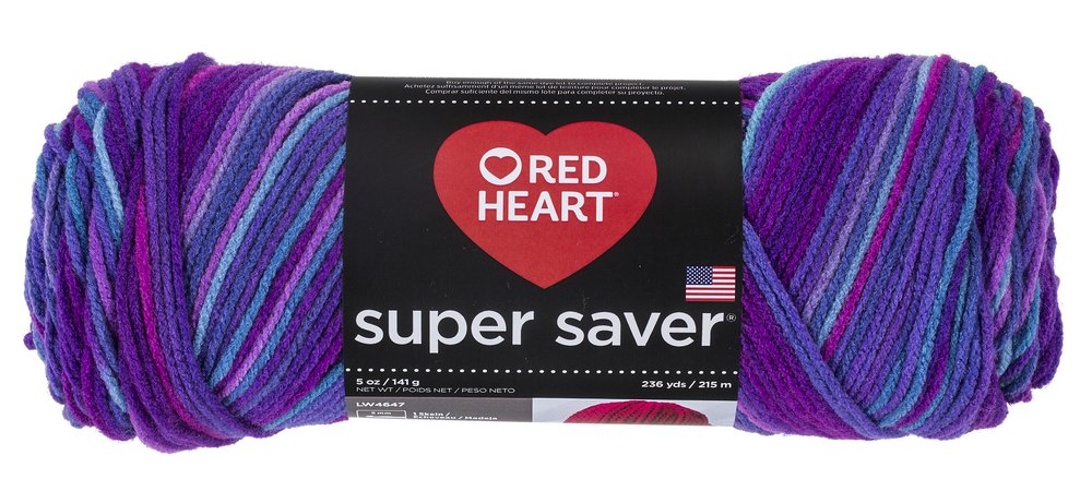 Red Heart Super Saver Yarn, Grape Fizz