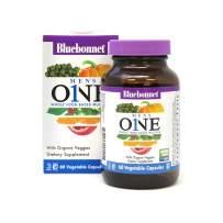 Bluebonnet Nutrition Men's One Vegetable Capsule, Whole Food Multiple, K2, Organic Vegetable, Energy, Vitality, Non-GMO, Gluten Free, Soy Free, Milk Free, Kosher, 60 Vegetable Capsules, 2 Month Supply