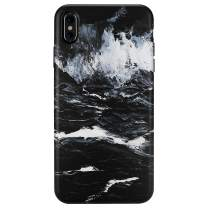 iPhone Xs MAX Case,GOLINK Matte Finish Oil Painting Series Slim-Fit Ultra-Thin Anti-Scratch Shock Proof Dust Proof Anti-Finger Print TPU Gel Case for iPhone Xs MAX 6.5 inch(Dark Sea)