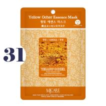 Pack of 31, The Elixir Beauty MJ Korean Cosmetic Full Face Collagen Yellow Ocher Essence Mask Pack Sheet for Vitality, Clarity, Mosturizing, Relaxing