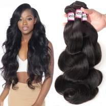 Bestsojoy 10A Brazilian Virgin Hair Body Wave Remy Human Hair 3 Bundles Weave 100% Unprocessed Brazilian Hair Extensions Natural Color (20 20 20)