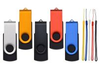 Thumb Drive Pack of 5 4GB USB Flash Drives Kepmem Metal U Disk Swivel Memory Stick Portable Jump Drive Bulk Zip Drives Mixed Color USB 2.0 Pendrives Data Storage for Business