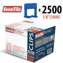 "Eventile Tile Leveling System Clips Spacers Clips (2500, 1/8""(3MM))"