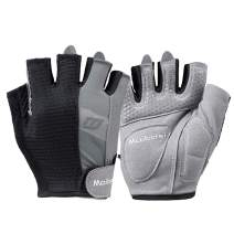 LeerKing Gym Non-Slip Gloves Weight Lifting Powerlifting Training Workout Gloves Palm Protection Mesh Back for Men & Women