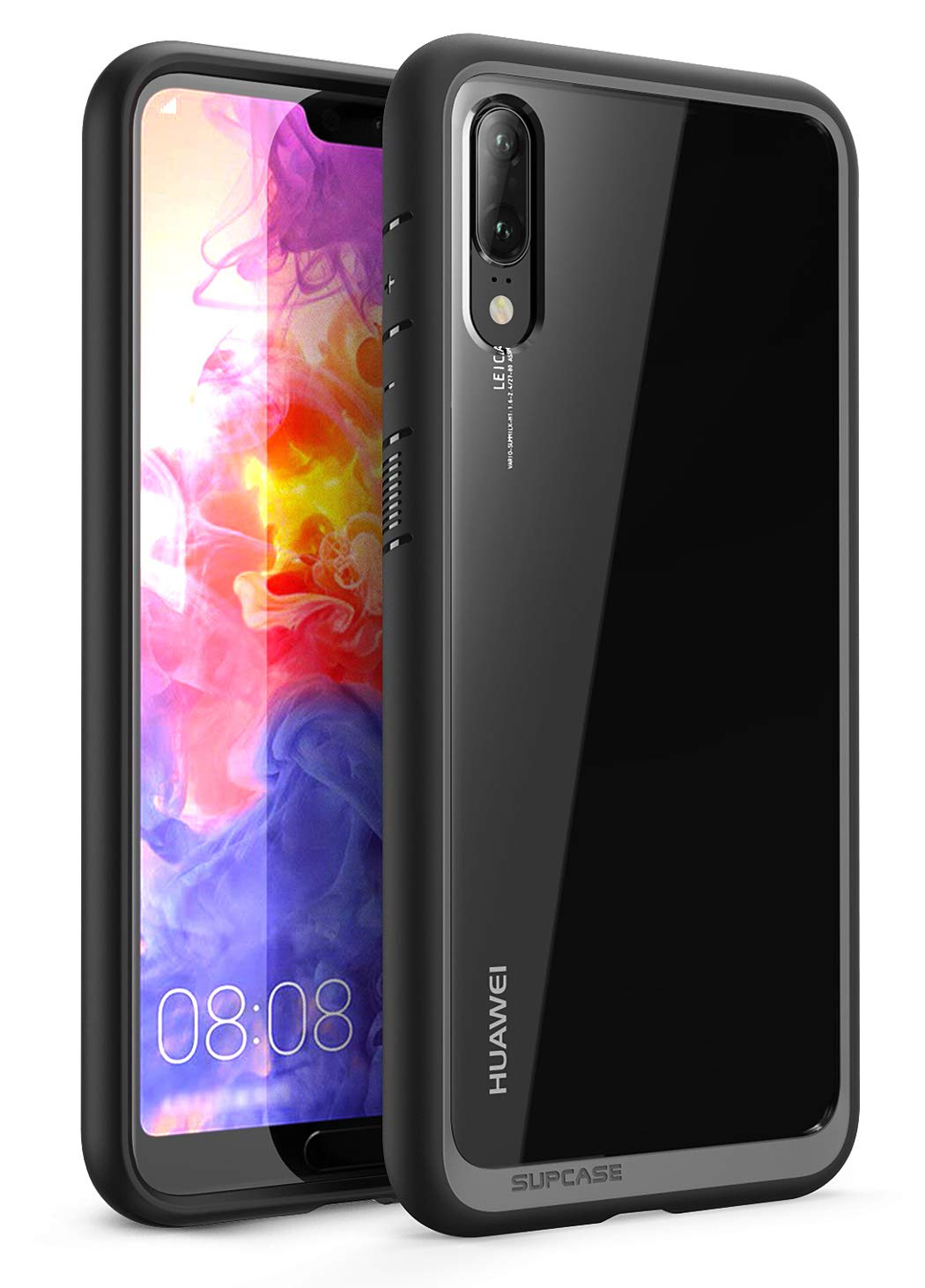 SUPCASE Unicorn Beetle Style Series Case for Huawei P20, Premium Hybrid Protective Clear Case for Huawei P20 (2018 Release) Not for Huawei P20 Pro, Retail Package (Black)