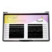 D Curl 0.18 Lash Extensions 8-15mm Mixed Tray .18 Individual Classic Single Eyelash Extensions 8mm 9mm 10mm 11mm 12mm 13mm 14mm 15mm Mix Tray by EMEDA (16 Rows 0.18 D MIX 8-15mm)