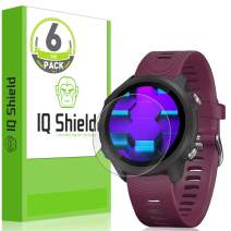 IQ Shield Screen Protector Compatible with Garmin Forerunner 245 (6-Pack) LiquidSkin Anti-Bubble Clear Film