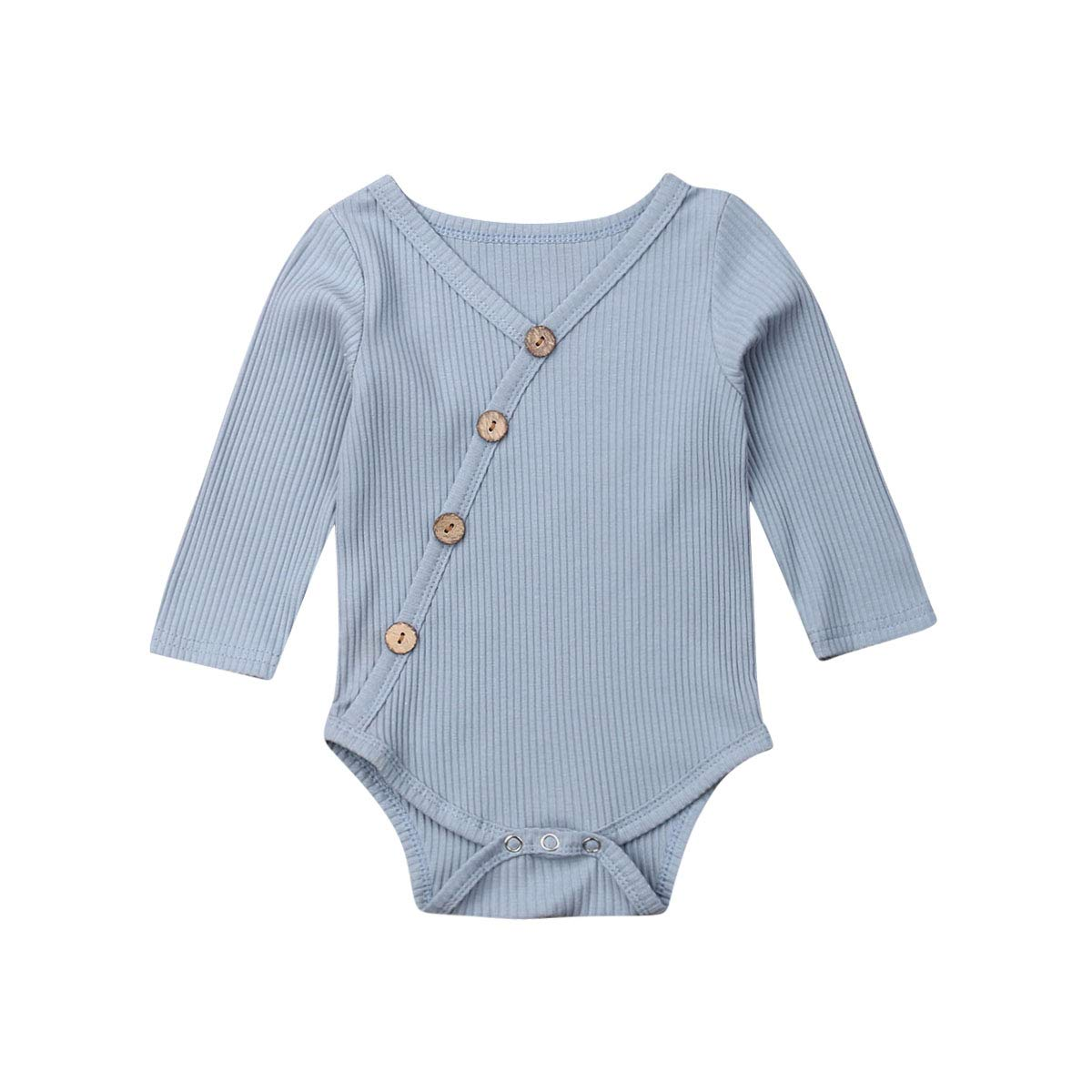 Merqwadd Infant Baby Girl Boy Long Sleeve Knitted Romper Bodysuit Jumpsuit One-Piece Newborn Fall Clothes