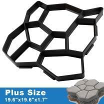 "CJGQ ANOTHERA Plus Size 19.6""x19.6""x1.7"" Walk Maker Reusable Concrete Pathmate Stone Molding Stepping Stone Paver Lawn Patio Yard Garden DIY Path Maker Paving Moulds (Irregular)"