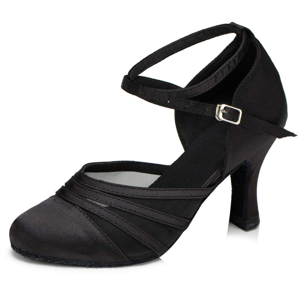 SWDZM Women's Standard Latin/Chacha/Salsa/Rumba Dance Shoes Leather Ballroom Model-YCL189