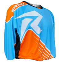 Risk Racing Ventilate Series MX Jersey (Blue/Orange, X-Large)
