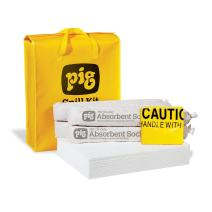 New Pig Oil-Only Spill Kit in High-Visibility Bag, Absorbs Oil-Based Liquids, Repels Water, 10-Gal Absorbency, Hi-Viz Portable Bag, KIT420, Yellow