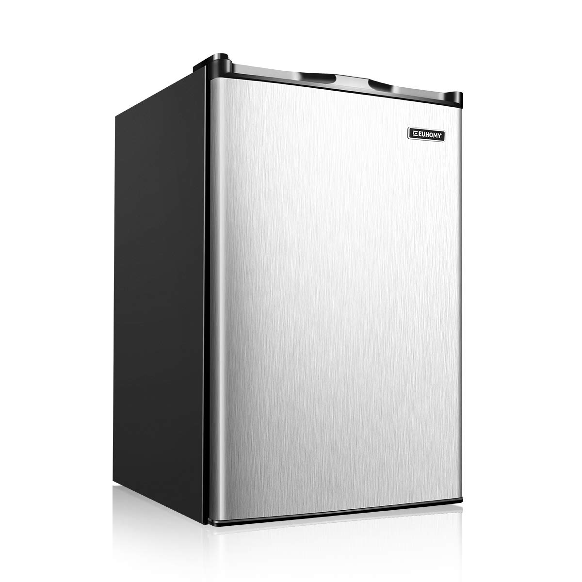Euhomy Upright Freezer, 3.0 Cubic Feet,Compact Single Door Freezer with Reversible Stainless Steel Door,Mini Freezer for Home/Dorm/Apartment/Office(Sliver)