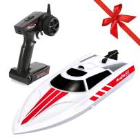 FUNTECH Remote Control Boats for Kids Adults 18+ mph Electric RC Boats for Pools, Lakes, Rivers, 2.4GHz Radio Control Boat, A Must for Outdoor Adventure, White