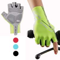 Hikenture Half Finger Cycling Gloves for Men and Women Padded Road Bike Gloves
