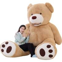 IKASA Giant Teddy Bear Plush Toy Stuffed Animals 6.5 Foot (Brown, 78 inches)