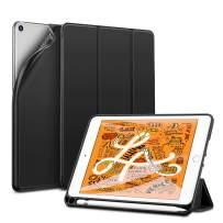 """ESR Rebound Pencil Series Case for iPad Mini 5 2019, Soft Rubberized TPU Trifold Smart Case with Pencil Holder for iPad Mini (5th Gen) 7.9"""" 2019, Black"""