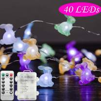 Gaudiwel Easter Decorations Lights, 10ft 40 LED Easter Decor String Light, Battery Operated, Remote Control, with Timer, Water Proof, for Indoor and Outdoor