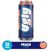 Ugly Peach Energized Sparkling Water - No Sugar - No Calories (12 x 16oz) - Natural Energy Drink - 160mg of Organic Caffeine from green coffee beans - Organic Natural PeachFlavor