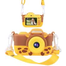 Joytrip Kids Camera for Girls Gifts HD 2.0 Inches Screen Kids Video Camera Anti-Drop Children Selfie Toy Camera Mini Cartoon Child Camcorder for 3-14-Year-Old with Soft Silicone Case (Deer)