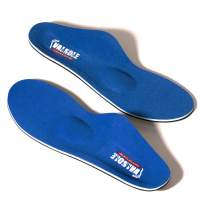 VALSOLE Plantar Fasciitis Insoles for Men and Women Arch Supports Orthotics Shoe Inserts, Relieve Flat Feet, High Arch, Foot Pain (blue-107b, Mens 11-11 1/2 | Womens 13-13 1/2)