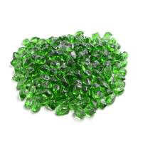 Mr. Fireglass 1/2-Inch Polygon Fire Glass for Natural or Propane Fire Pit, Fireplace and Fire Table, 10 lb, Green