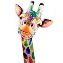 MXJSUA 5D Diamond Painting by Number Kit DIY Crystal Rhinestone Arts Craft Picture Supplies for Home Wall Decor,Giraffe - 11.8x15.7 inches
