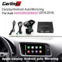 Carlinkit Wireless carplay Box Interface for Audi A4/A5/S5/Q5/Q7 2010 2016 2017Factory Screen Upgrade Screen Mirroring(Support Goolge&Waze Map&Mirroring)