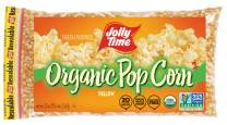 JOLLY TIME Organic Popcorn Kernels | Non-GMO & Gluten Free Natural Yellow Unpopped Corn for Stovetop Popping (20 oz. Bags, Pack of 3)
