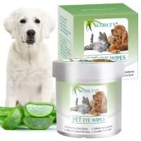 SEGMINISMART Pet Eye Wipes,Pet Tear Wipes,Pet Wipes,Eye Crust Treatment, Eye Tear Stain Remover Wipes for Cats & Dogs
