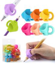 Pencil Grips,Firesara Three Fingers Fixed Handwriting Posture Correction Grip Trainer,Two Sizes and 8pcs Pencil Grips for Kids, Adults, Arthritis Designed for Righties or Lefties(5Standard+3Large)