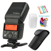 Godox TT350C TTL 2.4G GN36 High-Speed Sync 1/8000s Wireless Master Slave Camera Flash Speedlite Light Compatible for Canon Mirrorless Digital Camera with Filters & USB LED